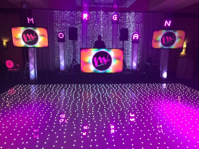 White Starlit Twinkle Dance Floor Electric Entertainment