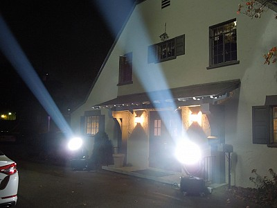 Electric Entertainment search-lights Picture